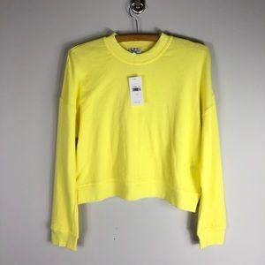 NEW Splendid Crewneck Crop Sweatshirt Pullover XS